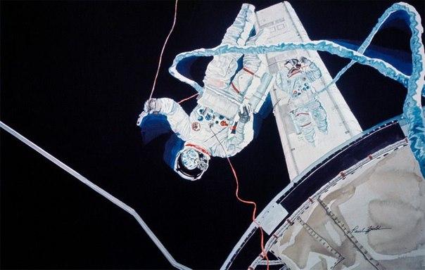 Картины космических миссий американского иллюстратора