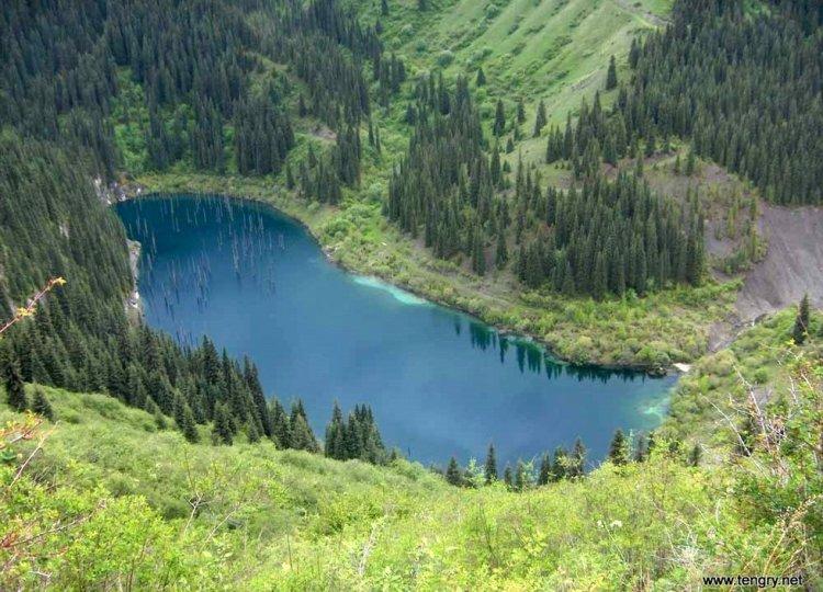 Озеро Каинды — достопримечательность Казахстана