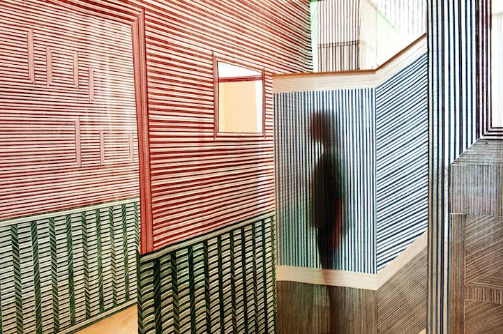 Стены с оптической иллюзией