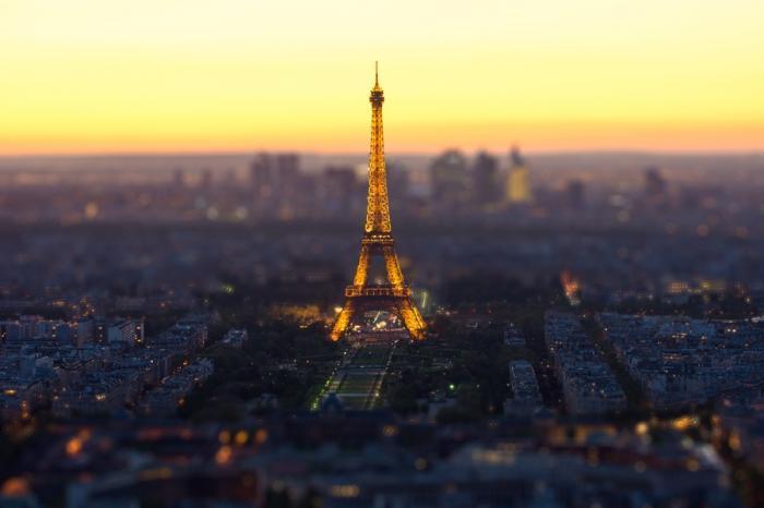 Tilt Shift фотографии городов мира