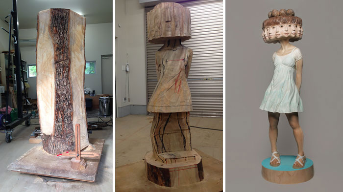 Как создавалась сюрреалистичная скульптура из дерева