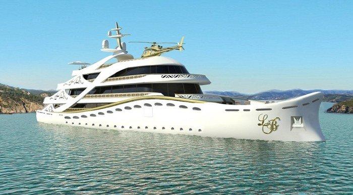 Роскошная яхта специально для женщин-миллионеров