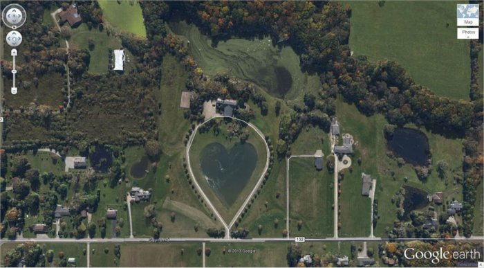 15 интересных мест на снимках спутника Google Earth