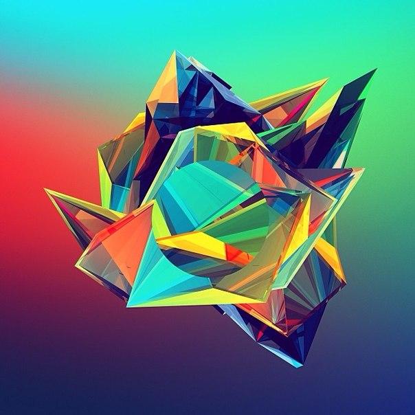 Геометрические картины от Джастина Меллера