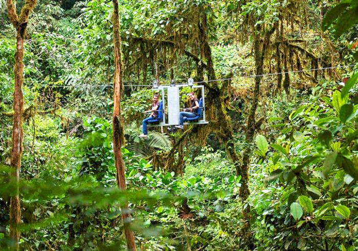 Небесный велосипед: прокатиться над тропическим лесом