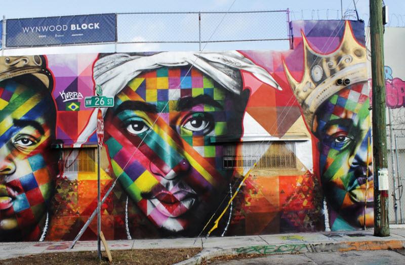 Позитивные уличные рисунки бразильца Эдуардо Кобра