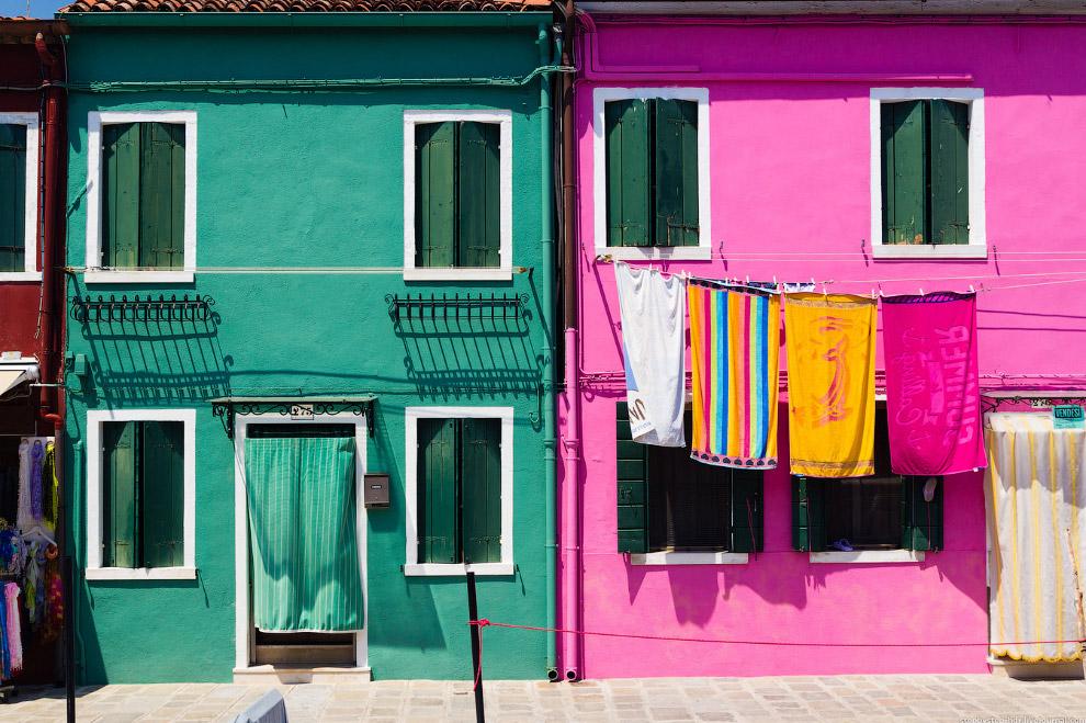 Разноцветные дома острова Бурано