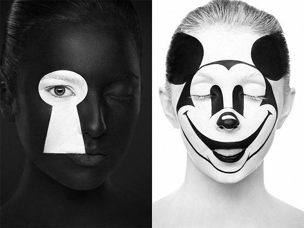 Рисунки на лице от Александра Хохлова