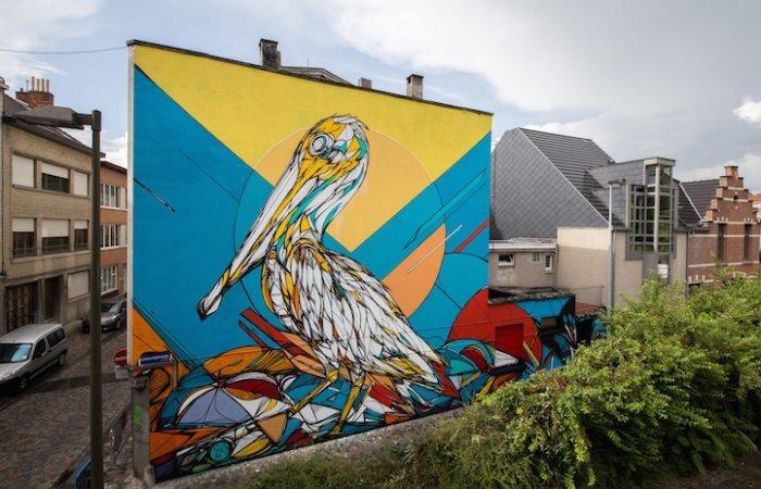 Рисунки животных от бельгийского уличного художника Dzia