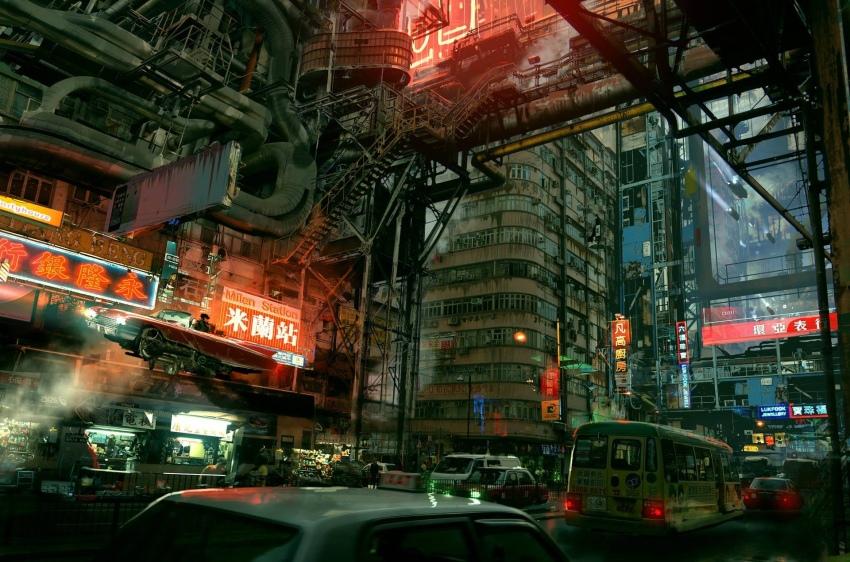 Фантастические миры на картинах Paul Chadeisson