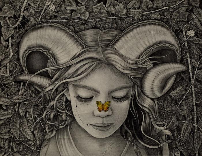 Мистические женские портреты от итальянской художницы Alessia Iannetti