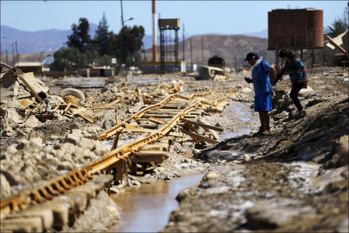 Сильнейшее наводнение в Чили
