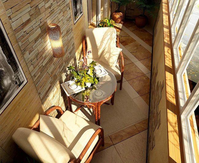Прекрасные идеи обустройства балкона к лету