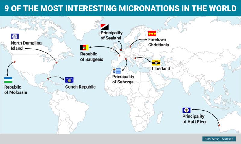 9 самых удивительных самопровозглашенных государств