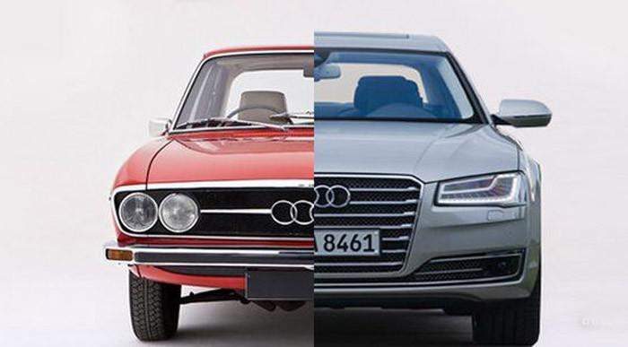 История флагманских седанов от Audi