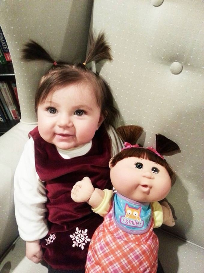 Когда дети и их куклы похожи