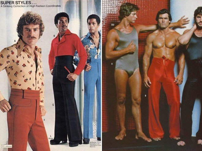 Мужская мода из 70-х