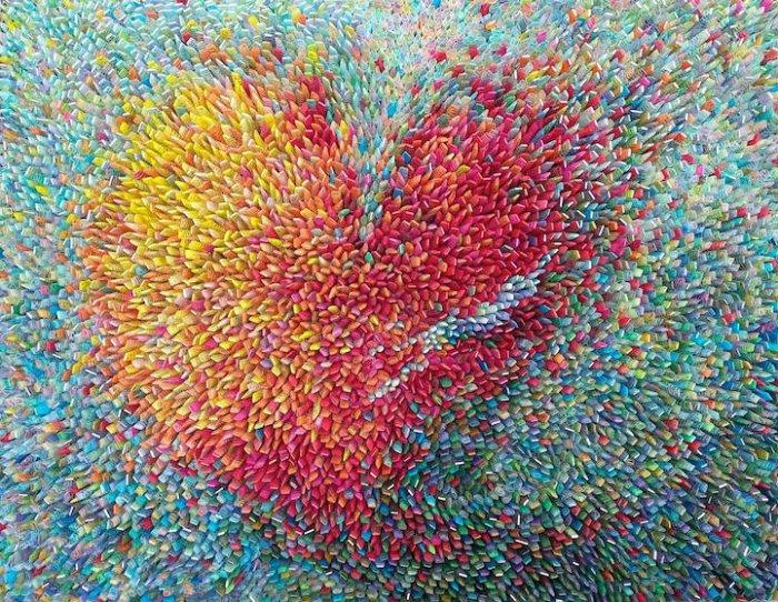 Объемные рисунки из тутовой бумаги от Ильвы Ким
