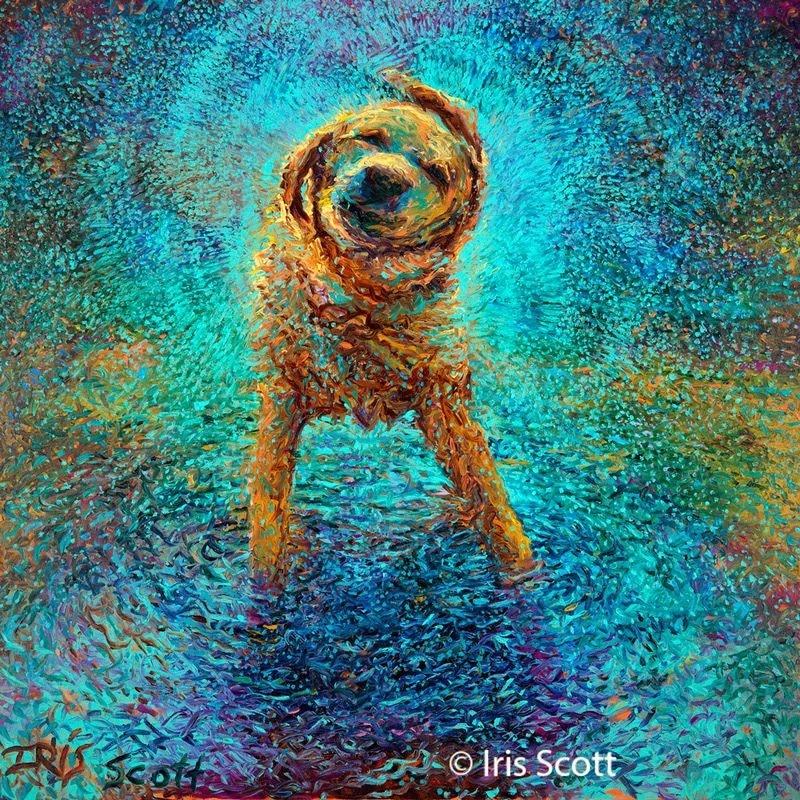 Удивительные картины Айрис Скотт, нарисованные пальцами