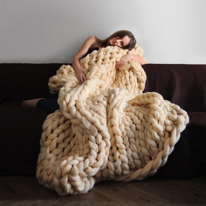 Вязаные вещи для гигантов от Анны Мо