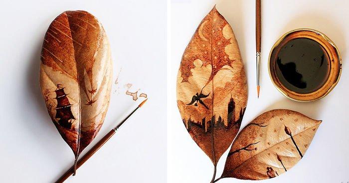 Кофейные рисунки от индонезийского художника Чидак аль-Низара