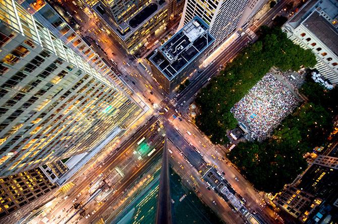 Нью-Йорк с крыш небоскрёбов