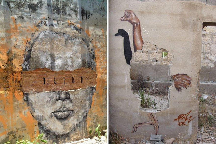 Рисунки бангкокского уличного художника Sath