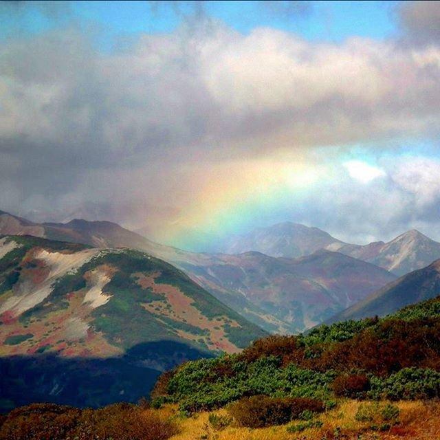 Живописные вулканы Камчатки