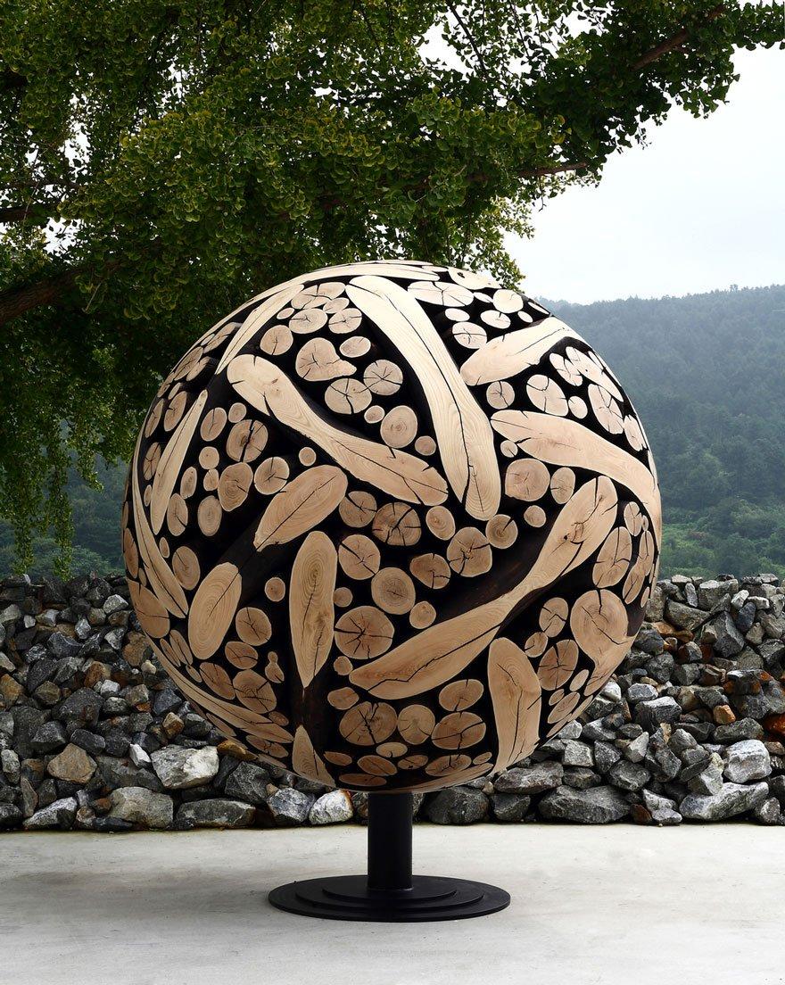 Деревянные скульптуры от южнокорейского художника Дже-Хё Ли