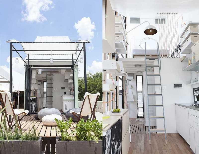 Домик площадью 17 кв метров на солнечной энергии