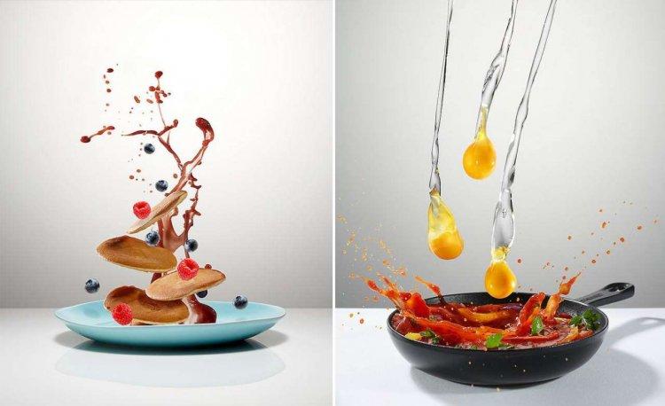 «Летающая еда» на фотографиях Петра Грегорчика