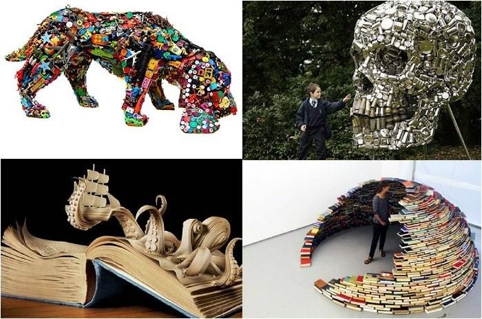 Потрясающие скульптуры из подручных материалов