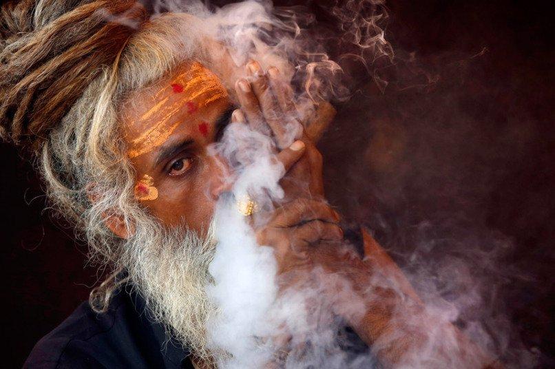Празднование Кумбха-мелы в Индии