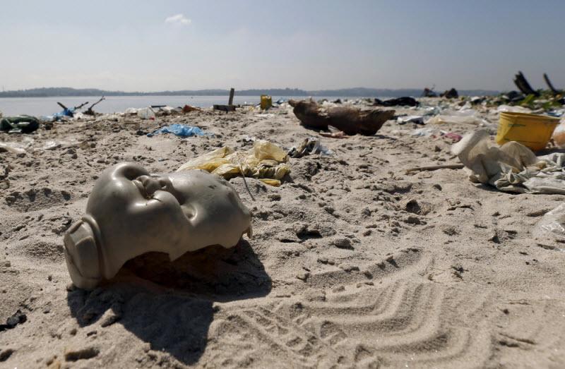 Загрязненные берега в Рио-де-Жанейро