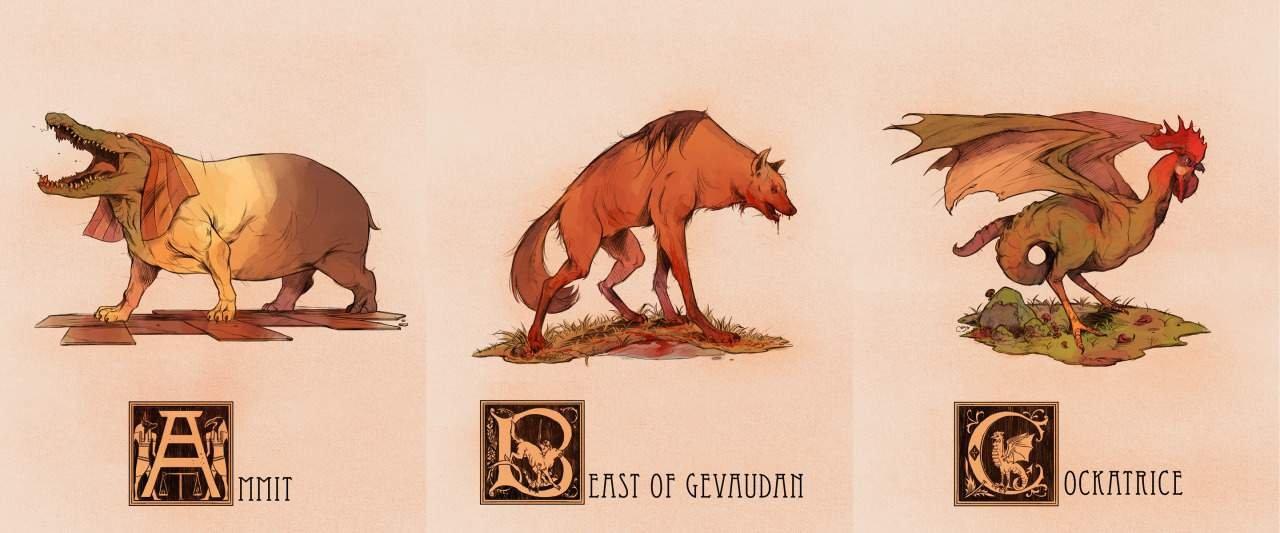 Мифологический алфавит — Bestiary Alphabetum