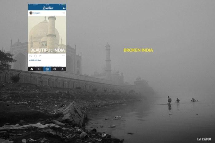 Поразительные контрасты Индии на скрытой части снимков из Instagram