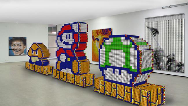Произведения искусства из кубиков Рубика