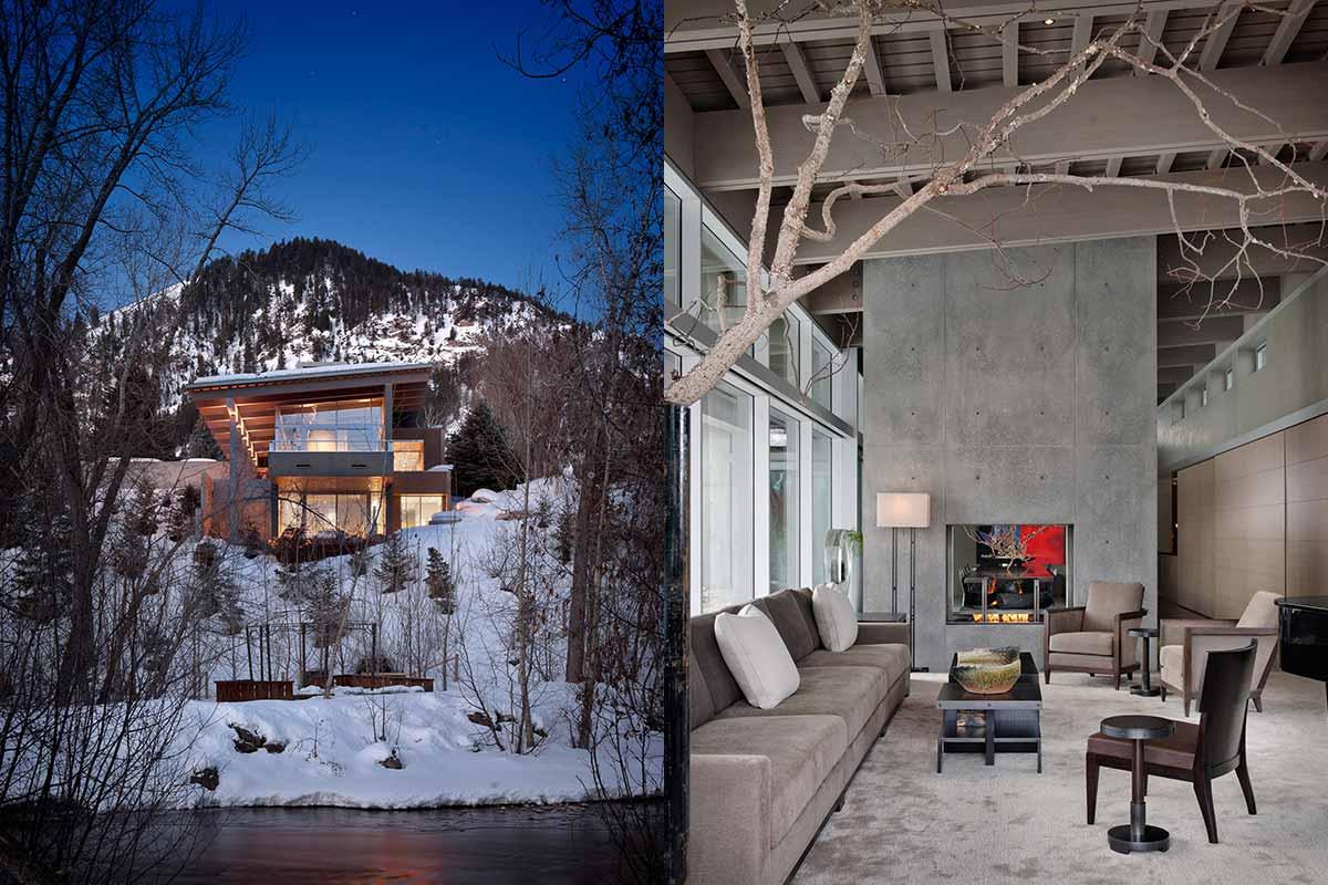 Современный дом из бетона River House от Suyama Peterson Deguchi