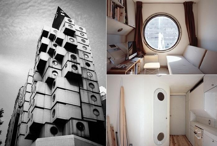 Капсульные жилища японцев площадью 10 кв. метров