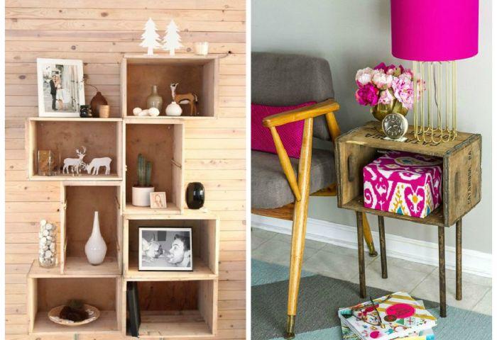 Оригинальные идеи создания креативной мебели из старых ящиков