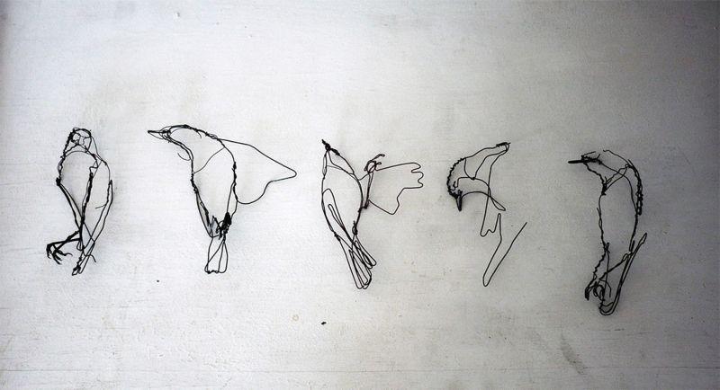 Проволочные рисунки животных от Дэвида Оливейры