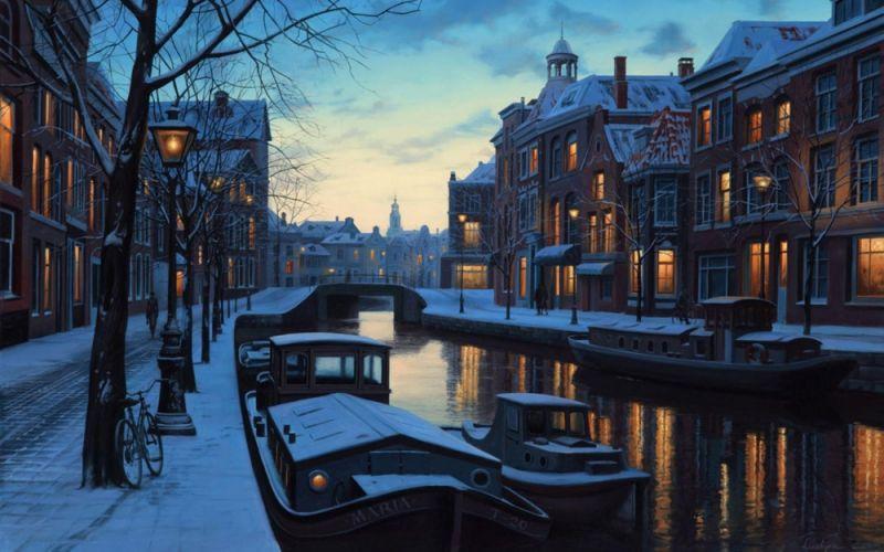 Романтические городские пейзажи на картинах Евгения Лушпина
