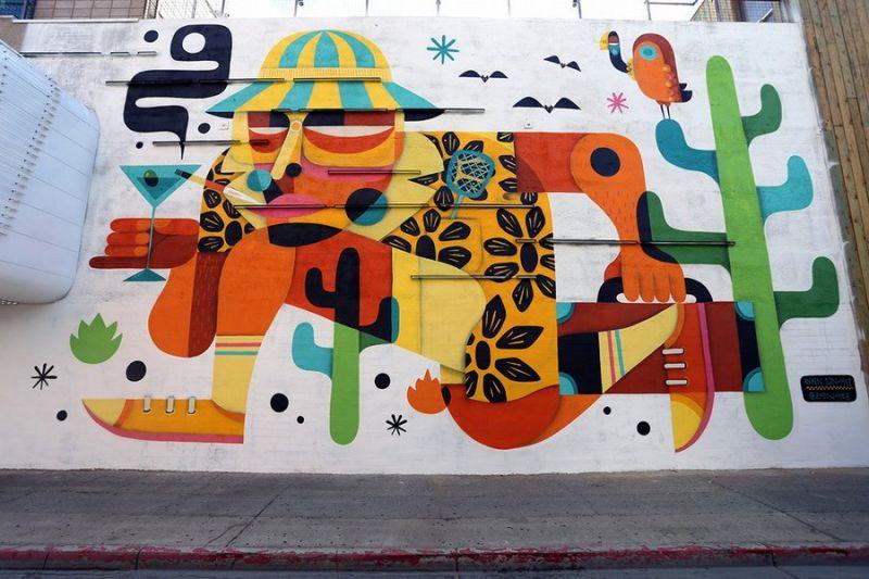 Уличные рисунки с фестиваля Жизнь прекрасна 2015