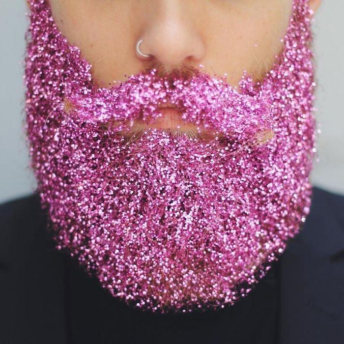 Борода в блёстках — новый тренд в Instagram