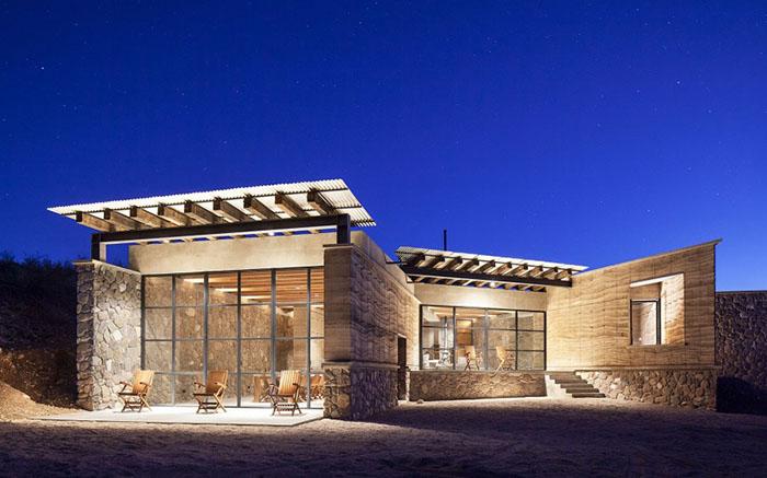 Эко дом-пещера от мексиканских дизайнеров