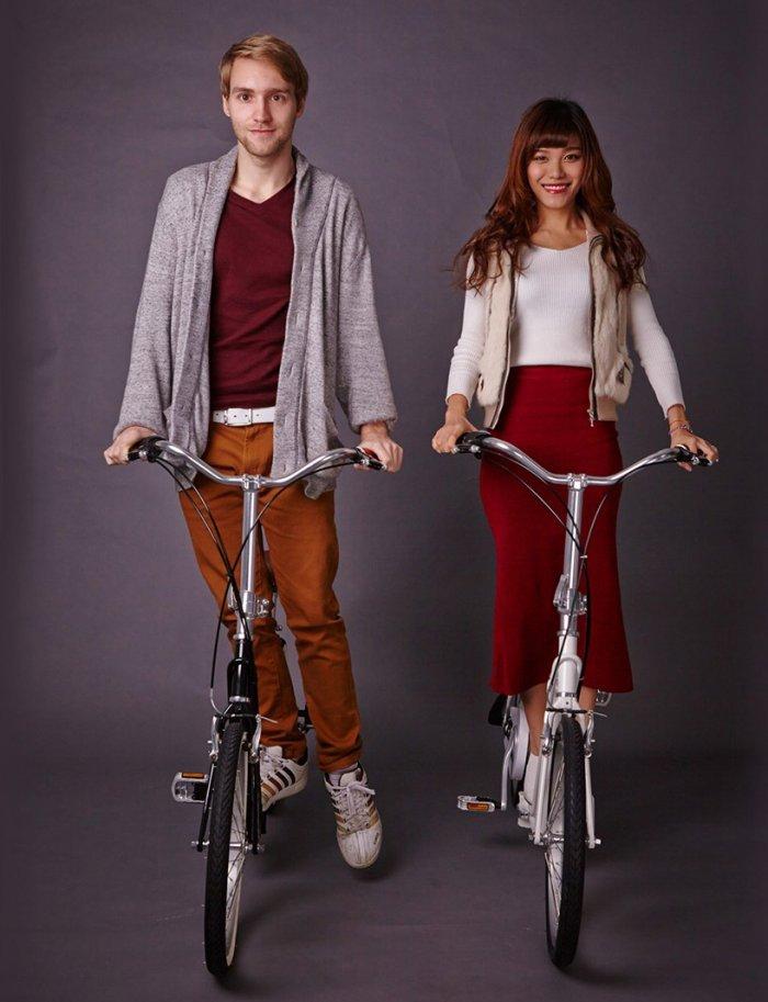 Компактный складной самокат-велосипед Sliders
