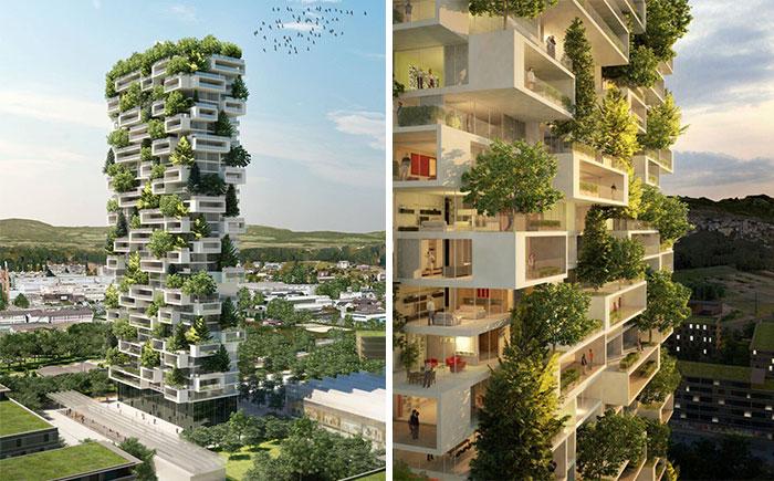 La Tour des Cedres – концепт жилой башни с зелеными насаждениями