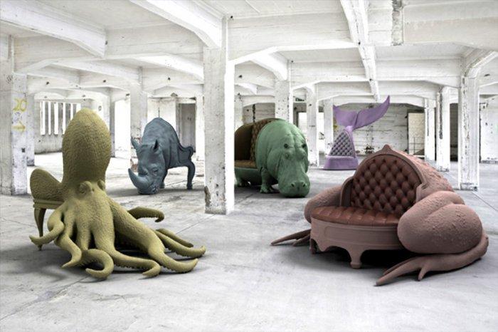 Необычные кресла и диваны в виде животных от Максимо Риеры