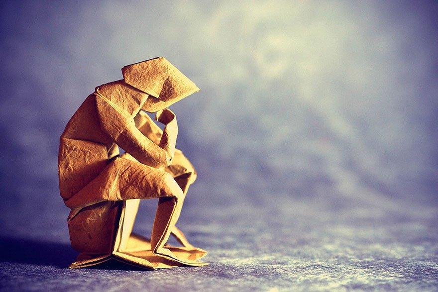 Потрясающие оригами из одного листа от Гонсало Гарсии Кальво