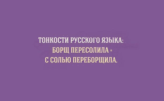 Прикольные особенности русского языка в картинках